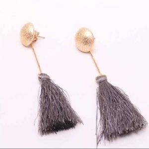Black Friday limited time!! Tassel Earrings grey